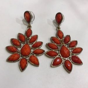 Amrita Singh red statement earrings